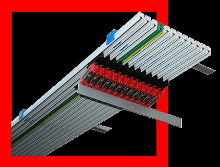 Rail électrique monofil type MF