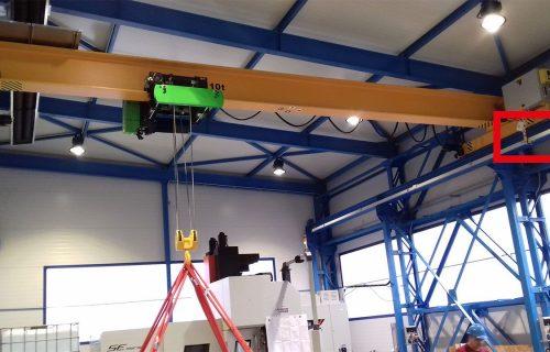Rails électriques pour l'alimentation de ponts roulants de 10 Tonnes.